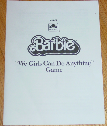 BARBIE WE GIRLS CAN DO ANYTHING GAME 1986 GOLDEN EXCELLENT CONDITION