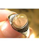 sterling silver 925 white GOLD Ring 7 natural rutile Quartz estate sapph... - $60.60