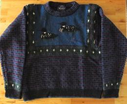 Womens Vintage WOOLRICH 100% Wool Duck Wildlife Jewel Tones Plaid Sweate... - $703,54 MXN