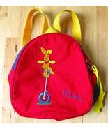 Felix Rabbit DIE SPIEGELBURG Children's Red Backpack Yellow Straps Germany - $24.95