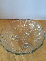 Clear Glass Bowl Footed Medium Size Hobnail to ... - $2.97