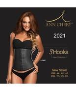 Ann Chery 2021 (3) Hooks/Rows Black Latex Waist Cincher Size XL/38 - $57.50