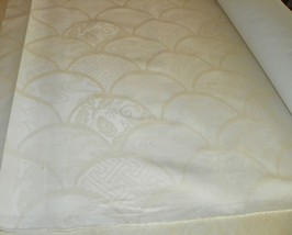Off White Natural Abstract Shell Print Upholstery Fabric  1 Yard  R301 - $24.95