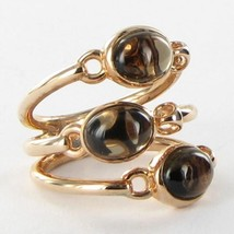 Di Modolo Lolita Ring Smoky Quartz 18k R Gold over 925 Silver Size 6.5 N... - $227.94