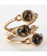 Di Modolo Lolita Ring Smoky Quartz 18k R Gold over 925 Silver Size 6.5 N... - $227.94