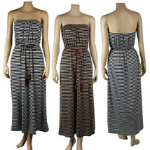 Sexy Long MAXI Striped Tube DRESS Summer Party  Evening Stretchy Casual ... - €22,26 EUR
