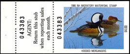 New Hampshire State Duck Stamp # 4a - VF NH Cat $30.00 - Stuart Katz - $12.50