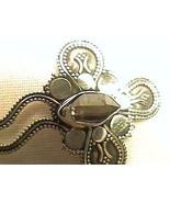 Herkimer diamond pendant Silver NATURAL SILVER 925 health crystal handmade artis - $54.99