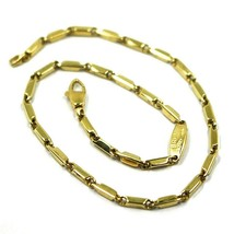 "18K YELLOW GOLD BRACELET ALTERNATE OVAL TRIANGULAR TUBES LINKS, 20 CM, 7.9"" - $310.00"