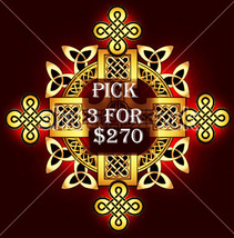 MON-TUES PICK 3 IN THE STORE $270 INCLUDES NO DEALS MYSTICAL TREASURE - $0.00