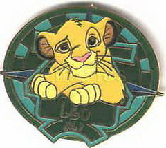 Simba  Lion King Zodiac LEO LE retired authentic Disney on original card pin - $44.99