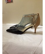 Womens Black And Tan Leather Nine West Heels Size 9 New - $39.59
