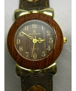 Marie Lourdes Wood Wristwatch - Untested - Needs New Battery - $19.79