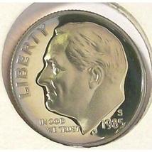 1985-S Proof DCAM Roosevelt Dime PF65 #0491 - $2.39