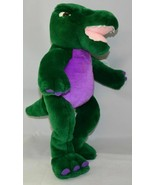 "Noah's Ark Animal Workshop 15"" Plush Dinosaur Green & Purple EUC W/ TAG - $9.85"