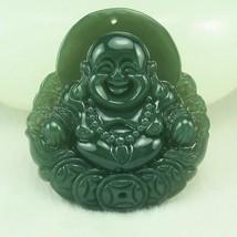 natural green jade  buddha good luck jade gift zen buddha pendant - $19.79