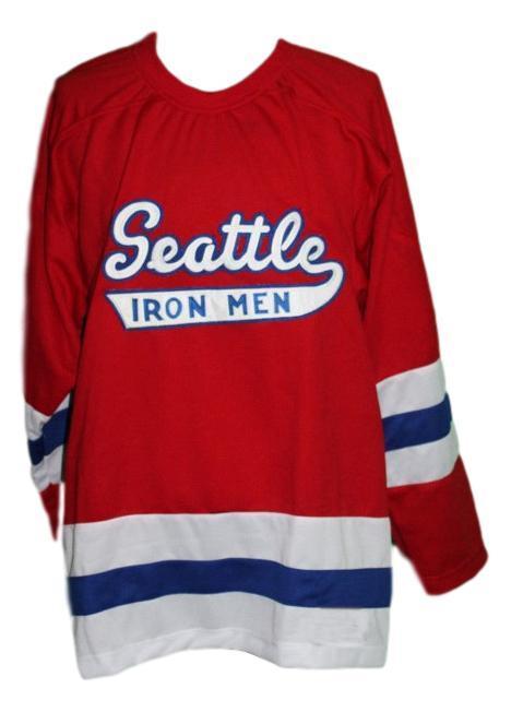 Seattle ironmen retro hockey jersey 1950 red   1