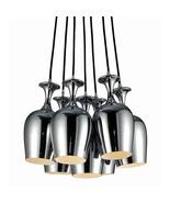Bromi Design Home Contemporary Style Sunrise 7 light Pendant in Chrome F... - $257.40
