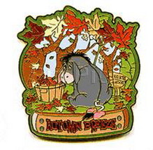 Eeyore Autumn Breeze Winnie the Pooh LE Disney Authentic On Card pin - $54.99