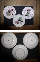 Minnie Mouse set of 3 Plates Disney  miniature Japan plate - $34.99