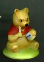Winnie the Pooh with Honey Procelain  Bisque Disney Miniature Figuine - $19.98