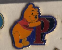Winnie the Pooh Leaning on the Letter 'P' Authentic Disney Pin No card - $19.98