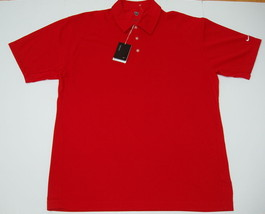 Nike Golf Polo Shirt XXL 2XL Fit Dry Pebble Texture Red S/S Solid NWT - $29.95
