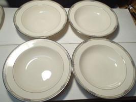 "4 Large Mikasa Afton 10 1/4"" Pasta / Soup Bowls~~~Rare & Htf~~~Nice - $39.99"