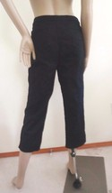 Nwt Sandro Control Top  Classic Rise Stretch Cropped Pants Capri Sz 8 Bl... - $22.72