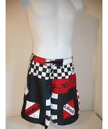 Surf's Up! Quiksilver Men's Black Red White geo Board Shorts waist sz 33... - $24.99