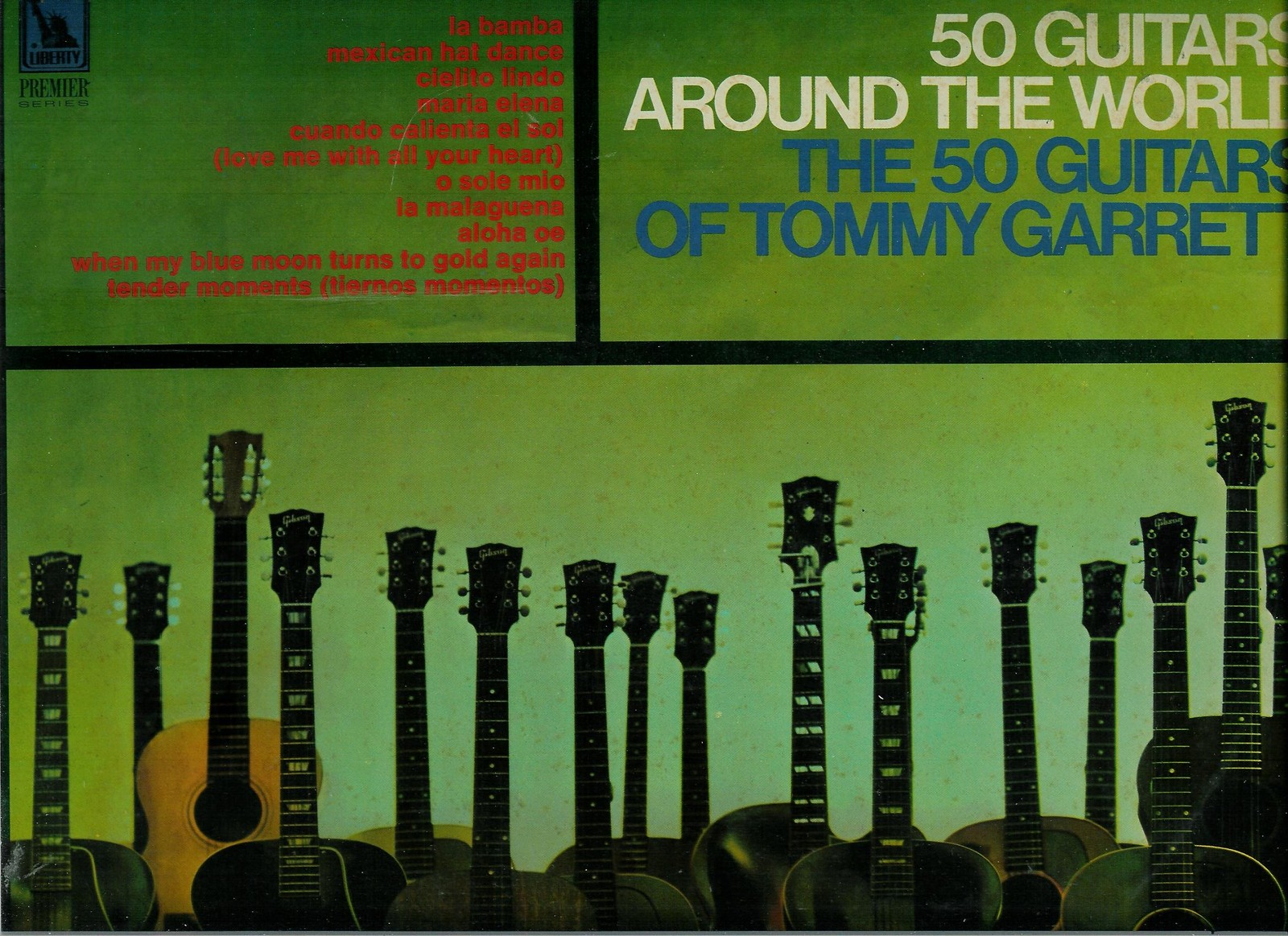 Primary image for THE 50 GUITARS OF TOMMY GARRETT  * 50 GUITARS AROUND THE WROLD *  LP