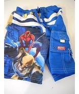 Spidey Sense Alert: Boys Marvel Spiderman Blue White Red Swim Shorts sz 4/5 - $14.99