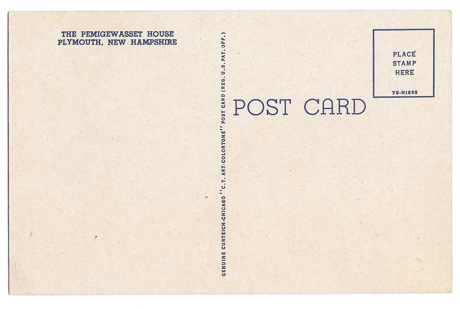 Pemigewasset House Vintage Plymouth NH Hotel Linen Postcard Curteich