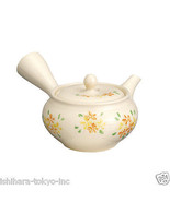 Tokoname Pottery : FLOWER - Japanese Tea Pot 350cc Sawayaka Fine Mesh Net - $72.93