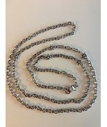 "Brighton 60"" Long Mini Link Chain Necklace With 4 Flowers & Center Cryst... - $49.55"