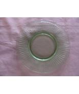 Green Depression Glass Plate Rippled Pattern - $6.92