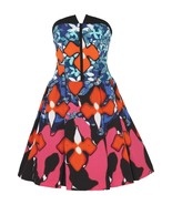 NEW! Peter Pilotto Target Jacquard Dress - Iris Red Strapless Stretchmatelassé - $72.47