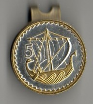 "British ½ penny ""Gold & Silver Sailing ship""  Coin Golf Marker - $71.00"
