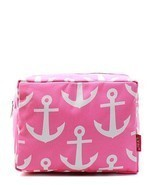 Nautical Anchor  Canvas Small Cosmetic Make up ... - $19.79