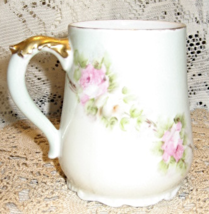 A K-France-Fancy Chocolate Cup-Porcelain-Roses with Gold Detail - $12.00