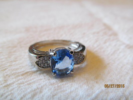 TANZANITE RING SIZE 7, NEW. - £8.89 GBP