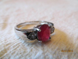 RUBY  RING, SIZE 9, 925, NEW. - €8,41 EUR