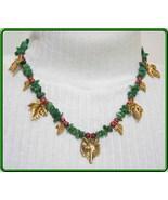 Elegant Fox & Grapes Green Aventurine Statement... - $79.00
