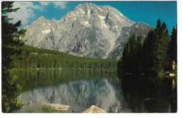 WY Mt. Moran and Leigh Lake Grand Teton National Park Vntg Postcard Muen... - $4.99