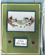 "Father's Day Card-""I Love That man!"";4.25""x5.5"";w/envelope;cellophane sl... - $9.99"