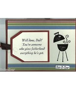 """Father's Day Card-""""Well Done, Dad!"""" Bar-B-Que-4.25""""x5.5"""" w/envelope;cell... - $9.99"""