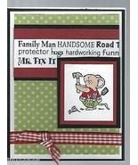 "Father's Day Card-""FAMILY MAN-MR.FIX IT"";4.25""x5.5"";w/envelope;cellophan... - $9.99"