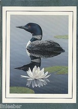 """FATHER'S DAY CARD-""""Common Loon Gavia"""";5""""X7"""";w/ENVELOPE;CELLOPHANE SLEEVE - $9.99"""