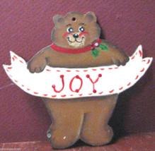 Joy: Christmas Bear Ornament by Helen Emery - $15.95