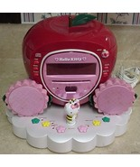 Cute!!! Hello Kitty Apple CD Clock Radio Boombox 2004 - $19.95